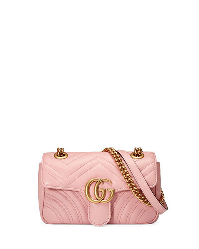 317ce3f19445cc Gucci GG Marmont 2.0 Mini Quilted Leather Crossbody Bag, White
