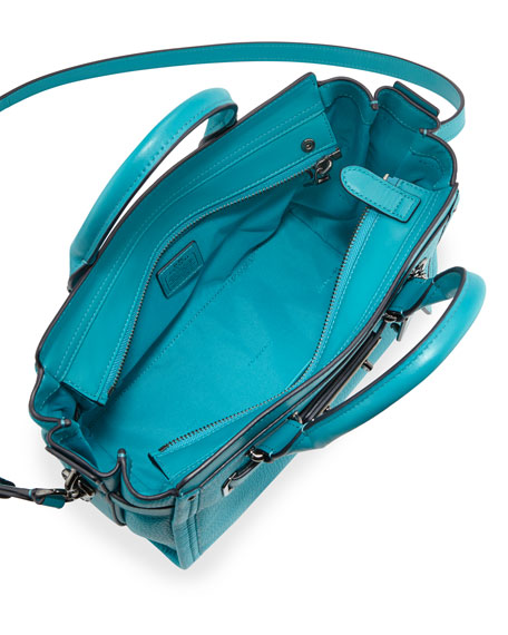 Swagger 27 Leather Satchel Bag Turquoise