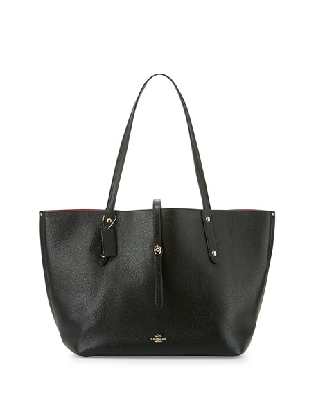 578e23ec6d85 Coach Market Leather Tote Bag Black | Stanford Center for ...