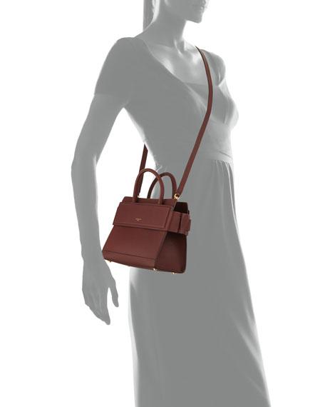 Horizon Mini Leather Satchel Bag, Medium Brown