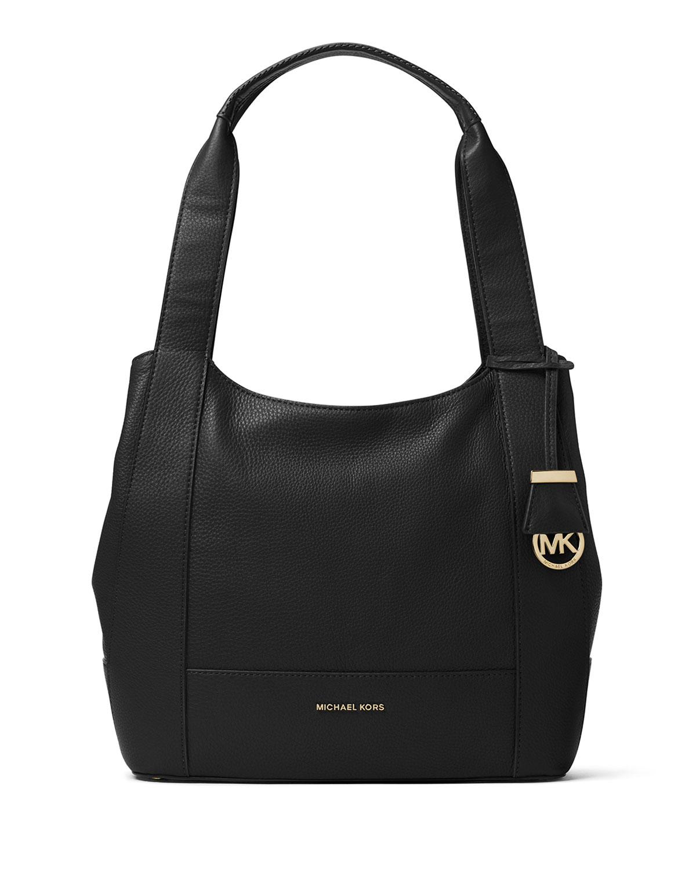 f6b3088b38ef07 MICHAEL Michael Kors Marlon Medium Leather Shoulder Bag, Black ...