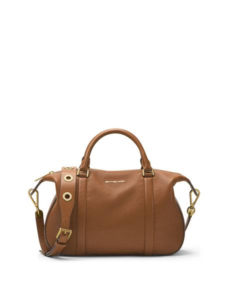 MICHAEL Michael Kors Raven Large Leather Satchel Bag, Luggage ...