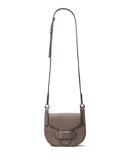 d2c973df1968 ... sale michael kors daria small leather crossbody bag elephant neiman  marcus 32036 1b593