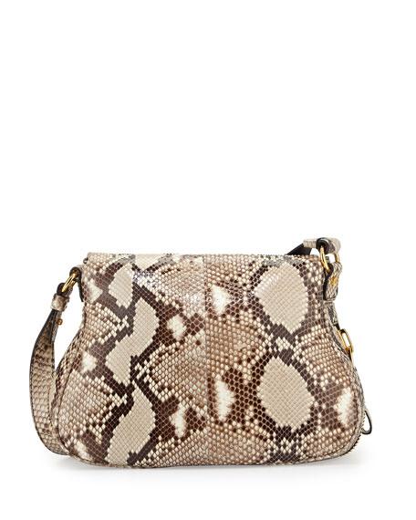 Jennifer Medium Python Shoulder Bag