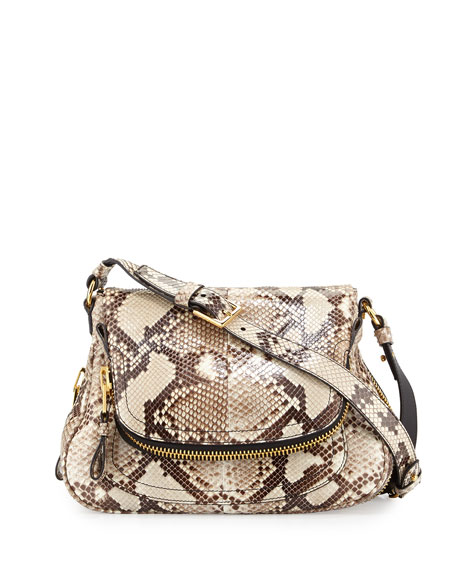 TOM FORD Jennifer Medium Python Shoulder Bag