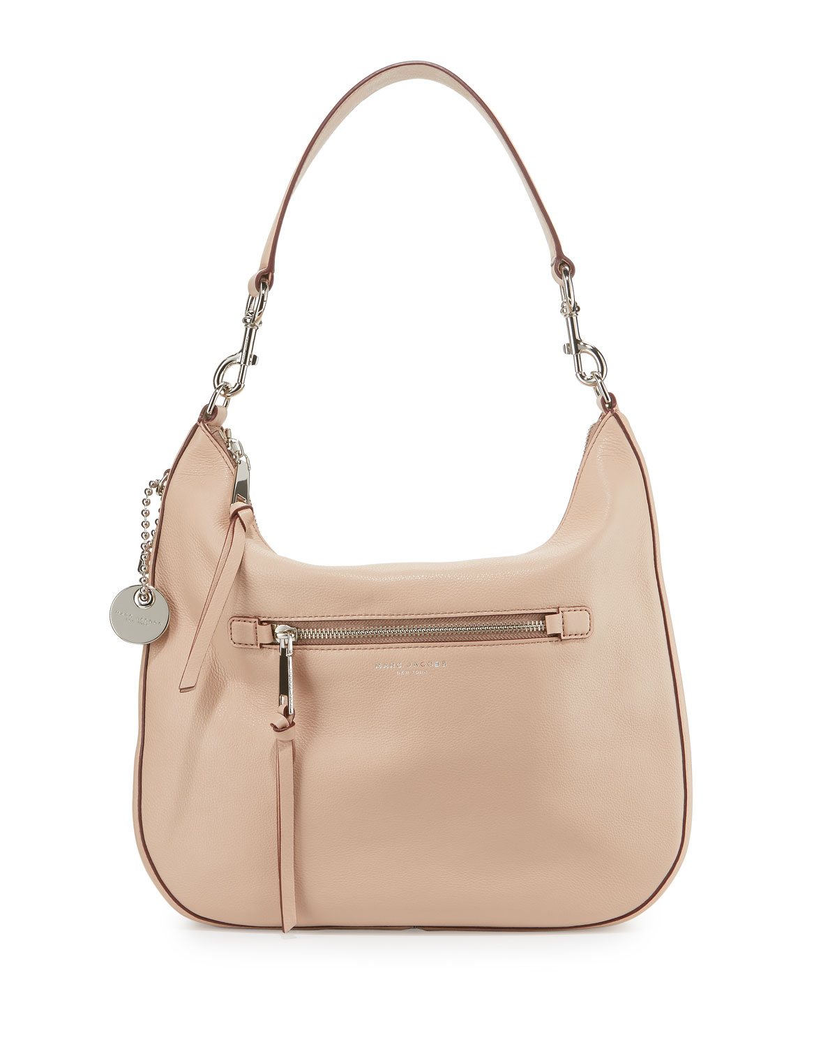 Marc Jacobs Recruit Leather Hobo Bag, Nude   Neiman Marcus ca94c90365