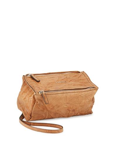 Pandora Mini Leather Shoulder Bag, Caramel