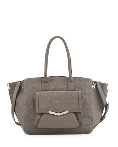 Jo Large Leather Tote Bag, Astral