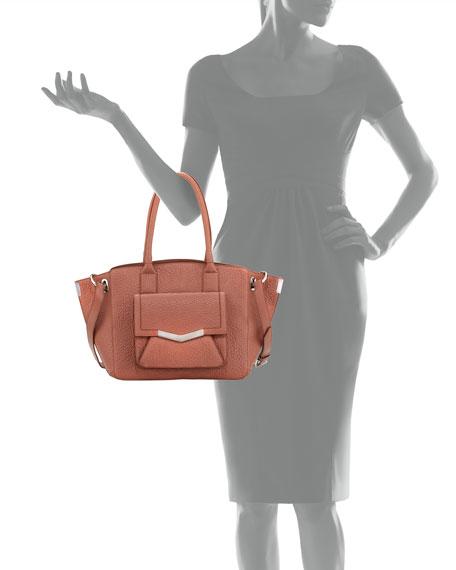 Jo Medium Leather Tote Bag, Venus
