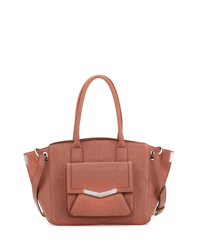 Jo Medium Leather Tote Bag, Venus