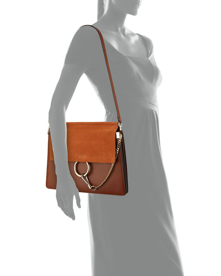 Image 3 of 3: Chloe Faye Medium Flap Shoulder Bag