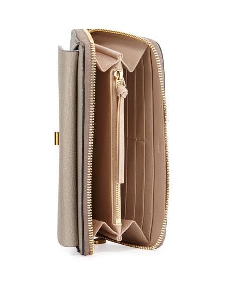 Drew Leather Zip-Around Wallet