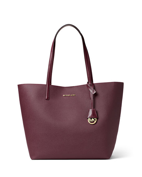 Hayley Large East-West Logo-Print Tote Bag, Plum/Tulip