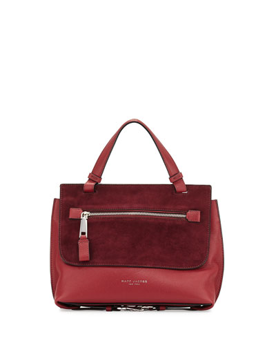 The Waverly Small Satchel Bag, Dark Cherry