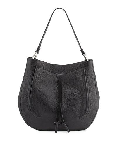 Maverick Leather Hobo Bag, Black