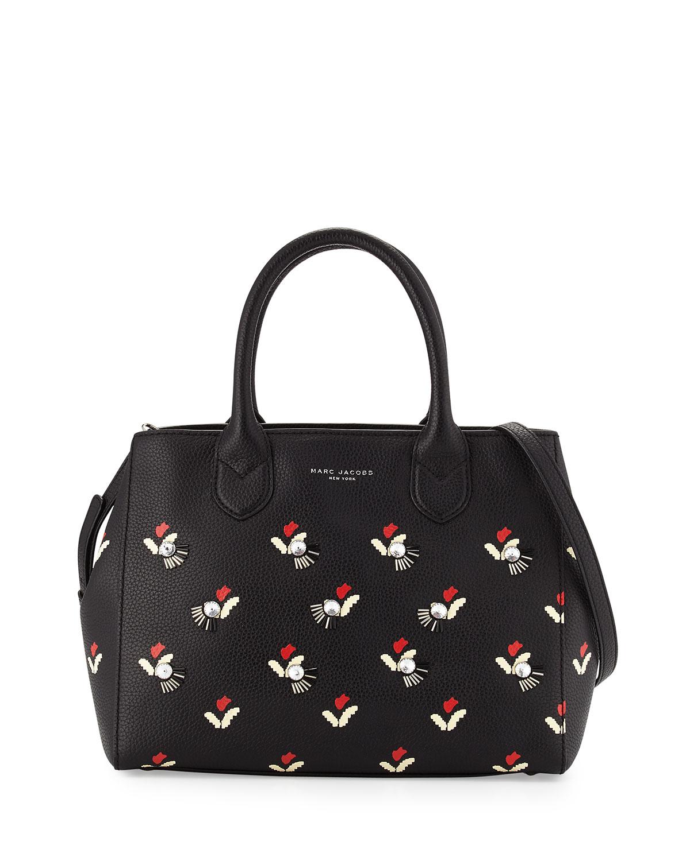 83c1db3cac62 Marc Jacobs Embellished Tulip-Print Gotham Tote Bag