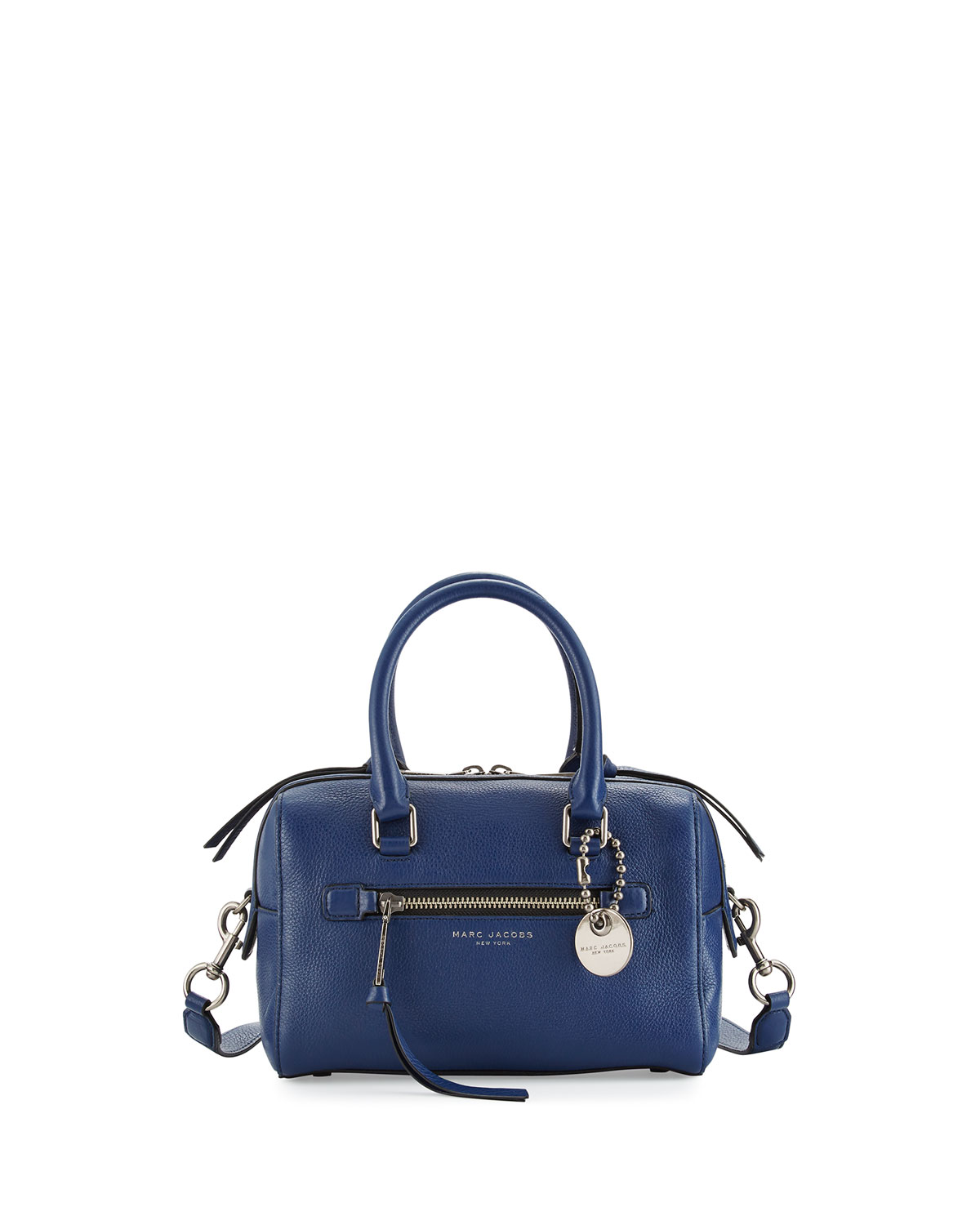 Marc Jacobs Recruit Small Leather Bauletto Bag, Dark Blue   Neiman ... ddbf6d30e0