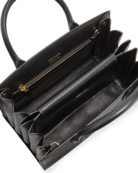 b991572119 Prada Bibliothèque Medium Saffiano TopHandle Tote Bag Black Nero ...