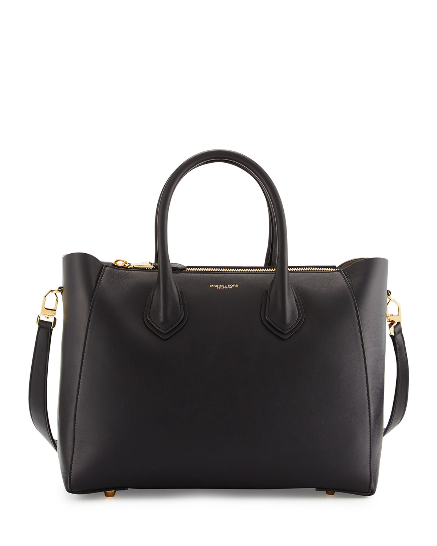 12738f12541c7 Michael Kors Helena Large Leather Satchel Bag