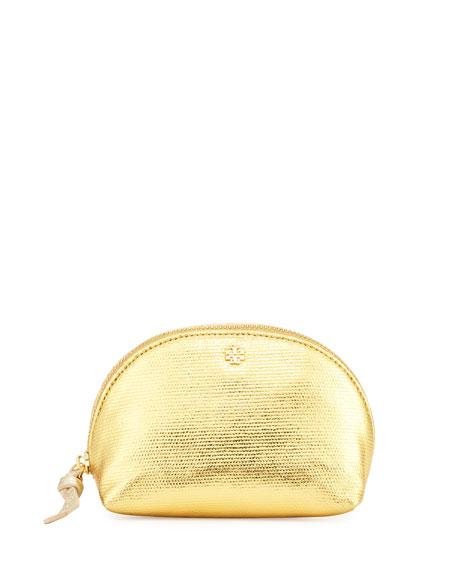 Metallic Mini Domed Cosmetic Bag