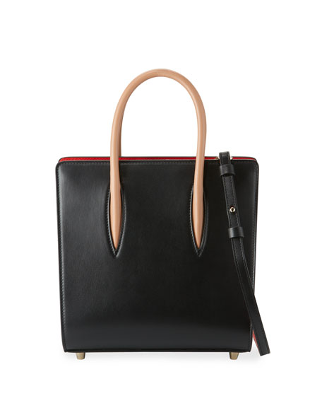 Christian Louboutin Paloma Small Calf Tote Bag, Black/Brown
