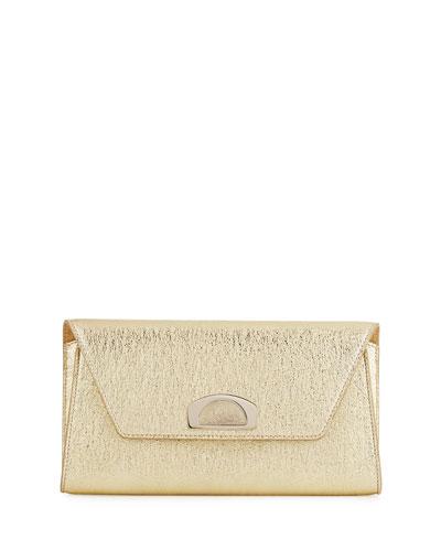 9f13a6eeb57 Christian Louboutin Vero Dodat Flap Clutch Bag, Gold - Fashion Now
