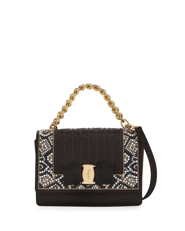 c7e5a72de5 Salvatore Ferragamo Ginny Mini Mosaic Crossbody Bag