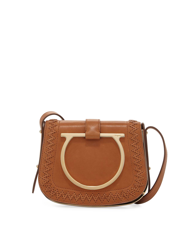 7e5780aa1b06 Salvatore Ferragamo Sabine Small Gancio Crossbody Bag