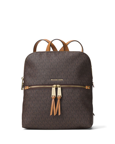 f0110e76f5a0 MICHAEL Michael Kors Rhea Medium Slim Logo Backpack, Brown