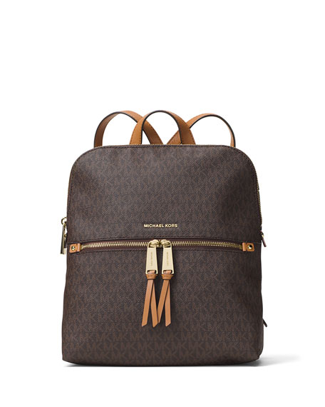 Rhea Medium Slim Logo Backpack