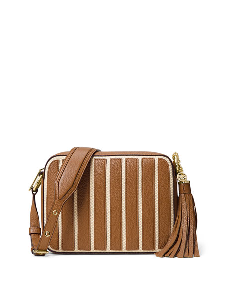 MICHAEL Michael Kors Brooklyn Large Striped Canvas Camera