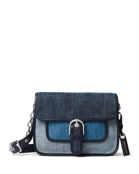 Cooper Medium Denim Messenger Bag