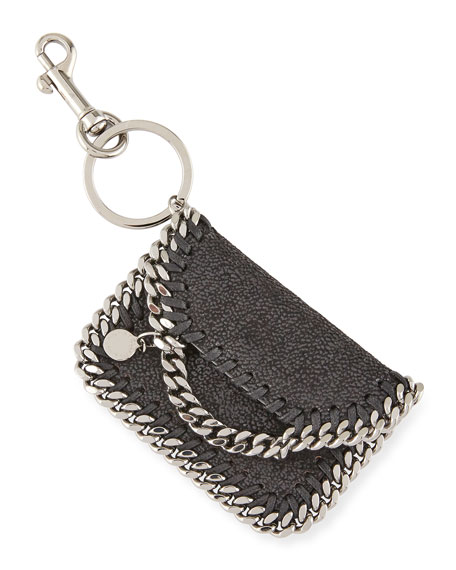 Stella McCartney Falabella Bag Keychain, Black