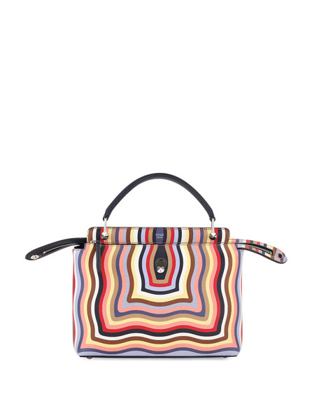 Fendi Dotcom Medium Hypnotic Satchel Bag, Multi