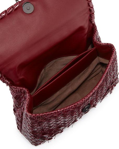 Baby Olimpia Snakeskin Shoulder Bag, Bordeaux