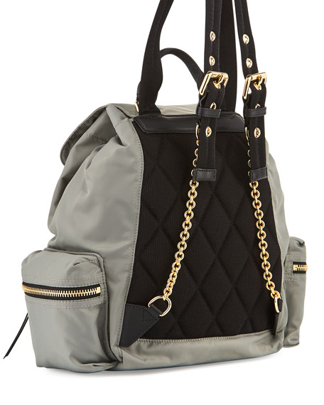 Medium Rucksack Runway Nylon Backpack, Thistle Gray