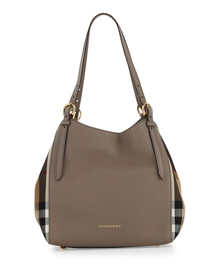 burberrycanterby small check shoulder bag thistle gray check small