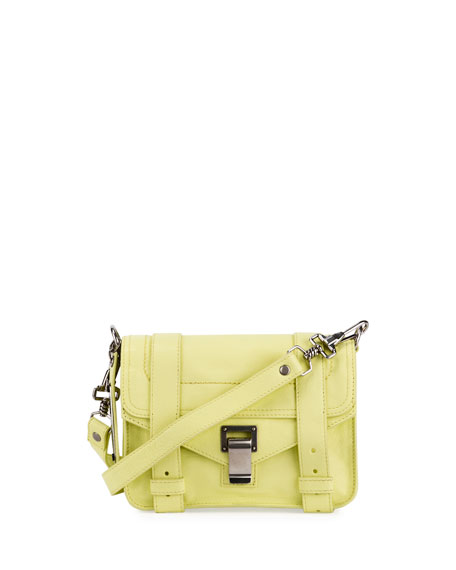 Proenza Schouler PS11 Mini Leather Shoulder Bag, Pale