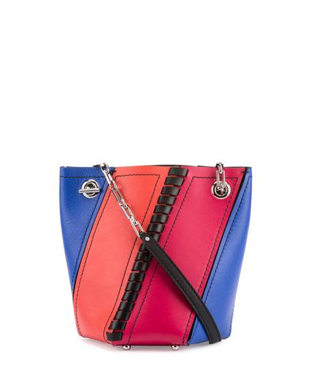 Proenza Schouler Hex Mini Colorblock Leather Bucket Bag,
