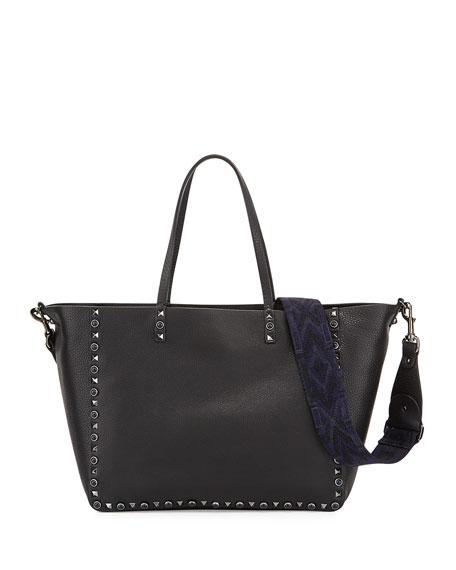 Valentino Garavani Rockstud Rolling Medium Reversible Tote Bag,
