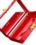 Edie Parker Jean Heart Box Clutch Bag, Red