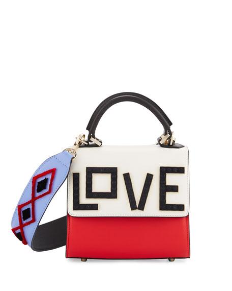 Micro Alex Black Widow Frame Bag, Red/White/Sky Blue