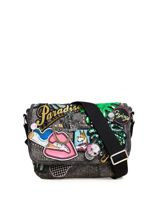 dadeb9b1421a Marc Jacobs Paradise Small Embellished Messenger Bag