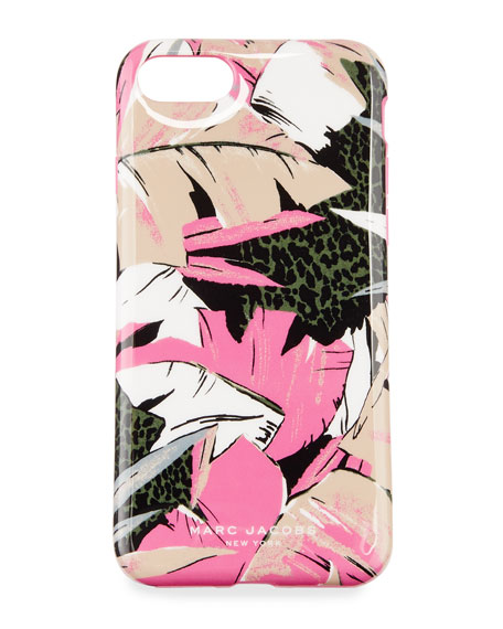 Palm iPhone 7 Case, Pink/Multi