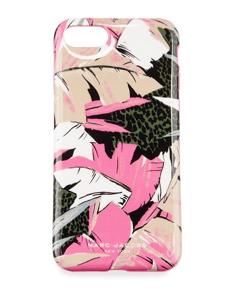 Palm iPhone 7 Case, Pink/Multi