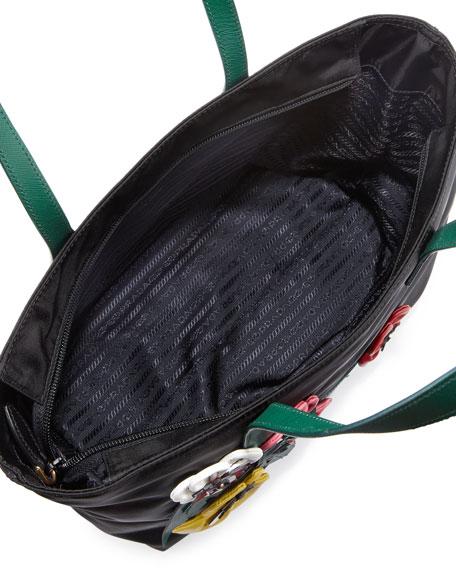 Tessuto Medium Flowers Shopping Tote Bag