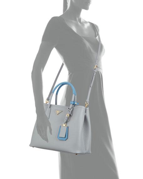 Saffiano Cuir Medium Bicolor Double Tote Bag