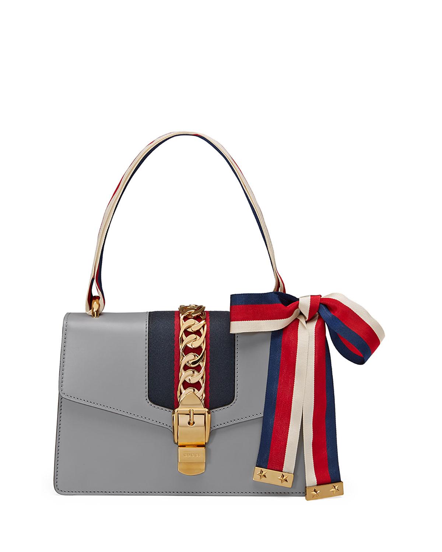 aaf34c7050d2 Gucci Sylvie Small Leather Shoulder Bag