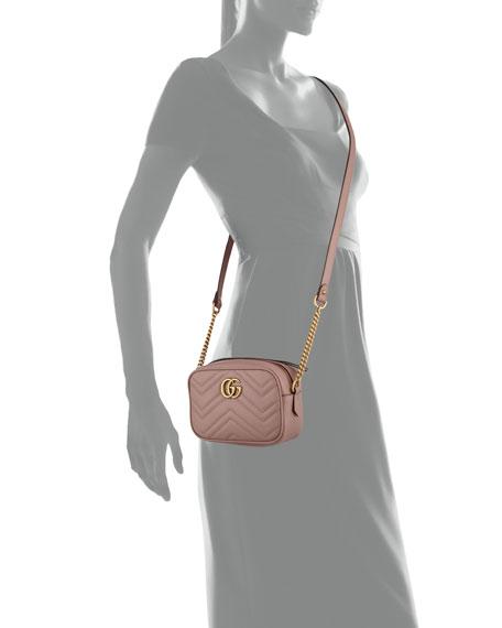 GG Marmont Mini Matelasse Camera Bag, Nude