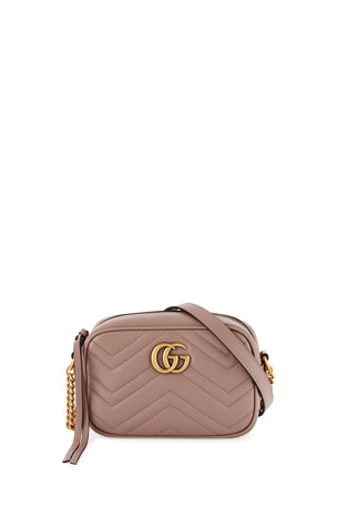 Gucci GG Marmont Mini Matelasse Camera Bag, Nude